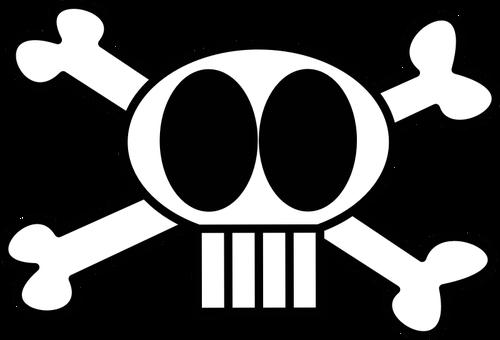 500x340 Pirate Flag Skull And Bones Vector Image Public Domain Vectors