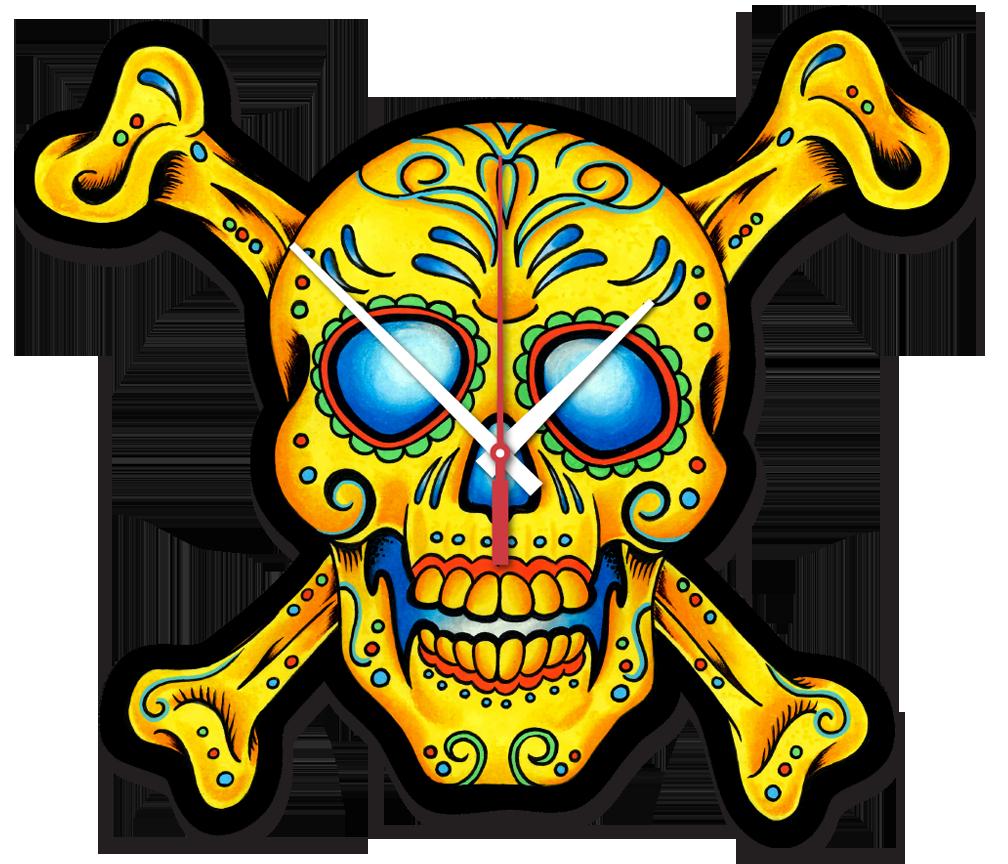 1008x864 Skull And Bones Clock Clocks 4 You
