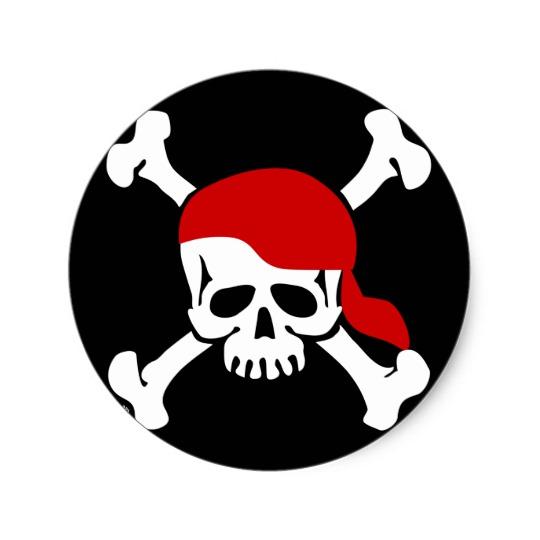 540x540 Skull And Bones Sticker