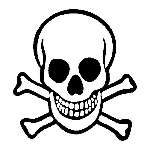 501x501 Crossbones Skull Clipart