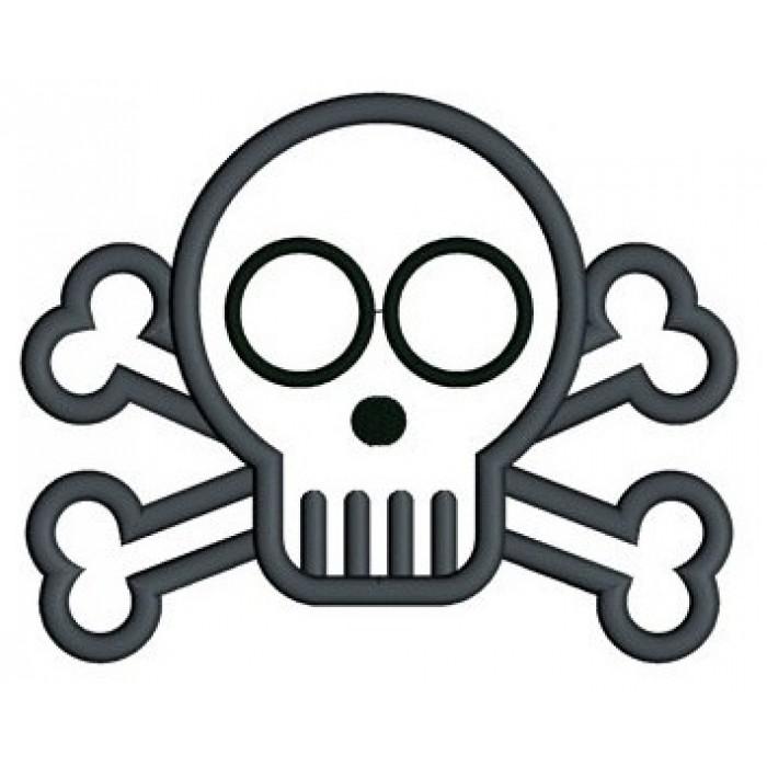 700x700 Cute Skull And Bones Applique