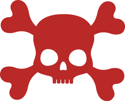 400x323 Coolest Halloween Free Clip Art Red Skull And Crossbones Clipart
