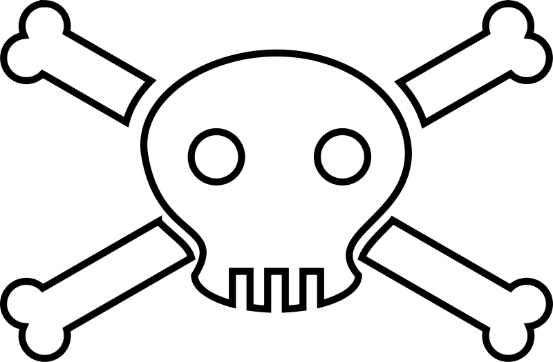 800x525 Death Clipart Skull And Crossbones