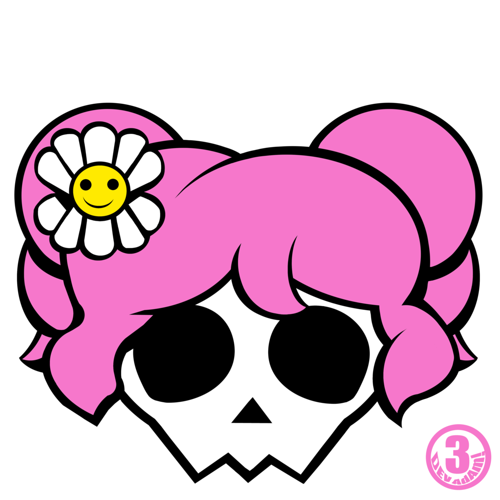 1024x1024 Girly Skull And Crossbones Clipart
