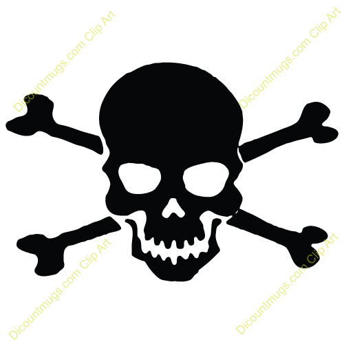 500x500 Pirate Skull Clipart
