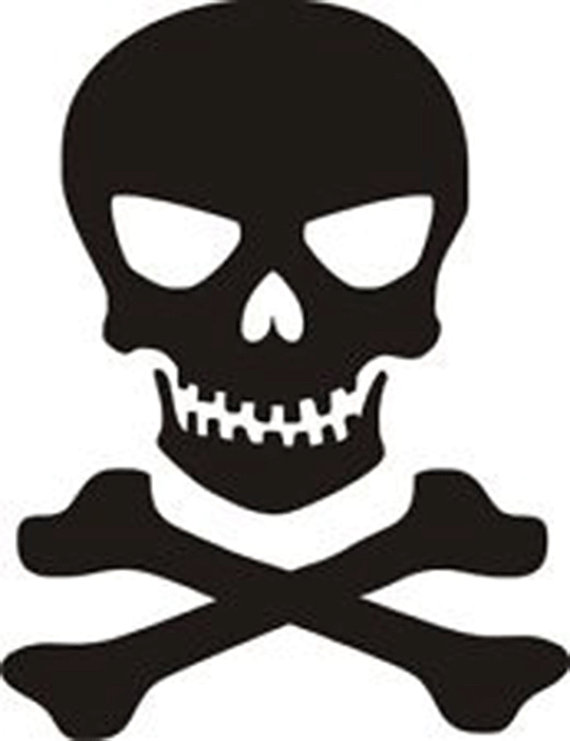 570x741 Silhouette skull clipart, explore pictures