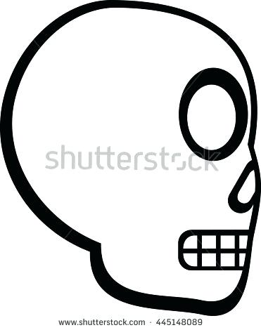 371x470 Skull Clipart Skull And Crossbones On Black Background Vector Clip