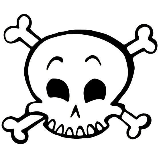 555x555 Skull Clipart