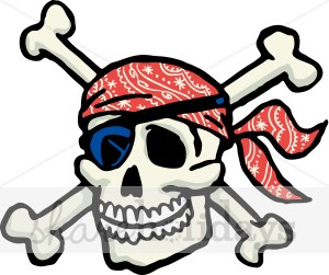 300x251 Skull Crossbones Clipart Party Clipart Amp Backgrounds