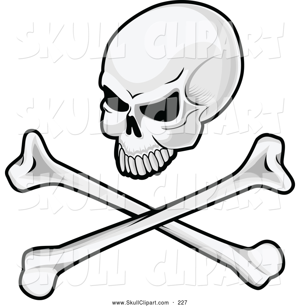 1024x1044 Vector Clip Art Of A Angry Skull And Crossbones Image By Vector