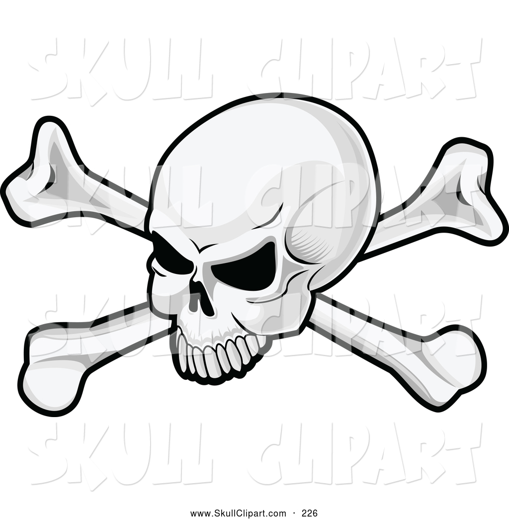 1024x1044 Vector Clip Art Of A Skull And Crossbones Pirate Flag Logo By