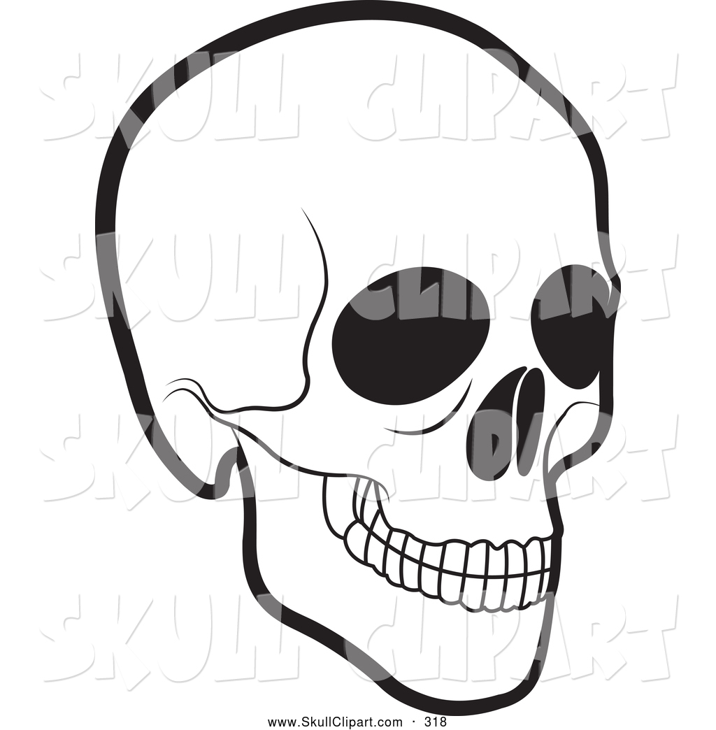 1024x1044 Vector Clip Art Of A Scary Black And White Human Skull By Lal