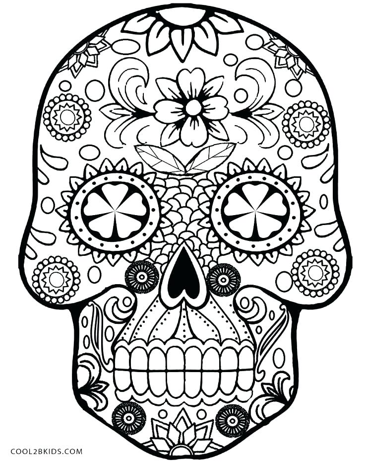 736x930 Picture Sugar Skulls Coloring Pages In Free Colouring With Co