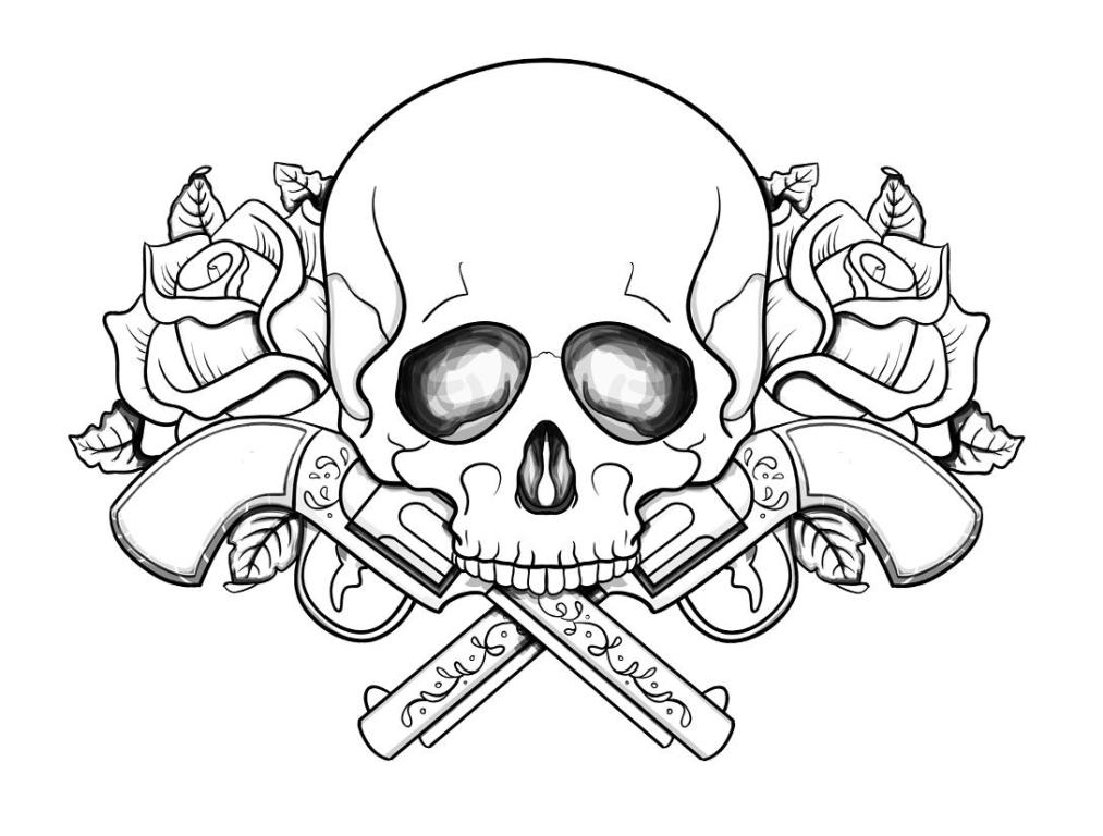 Skull Coloring Pages | Free download on ClipArtMag
