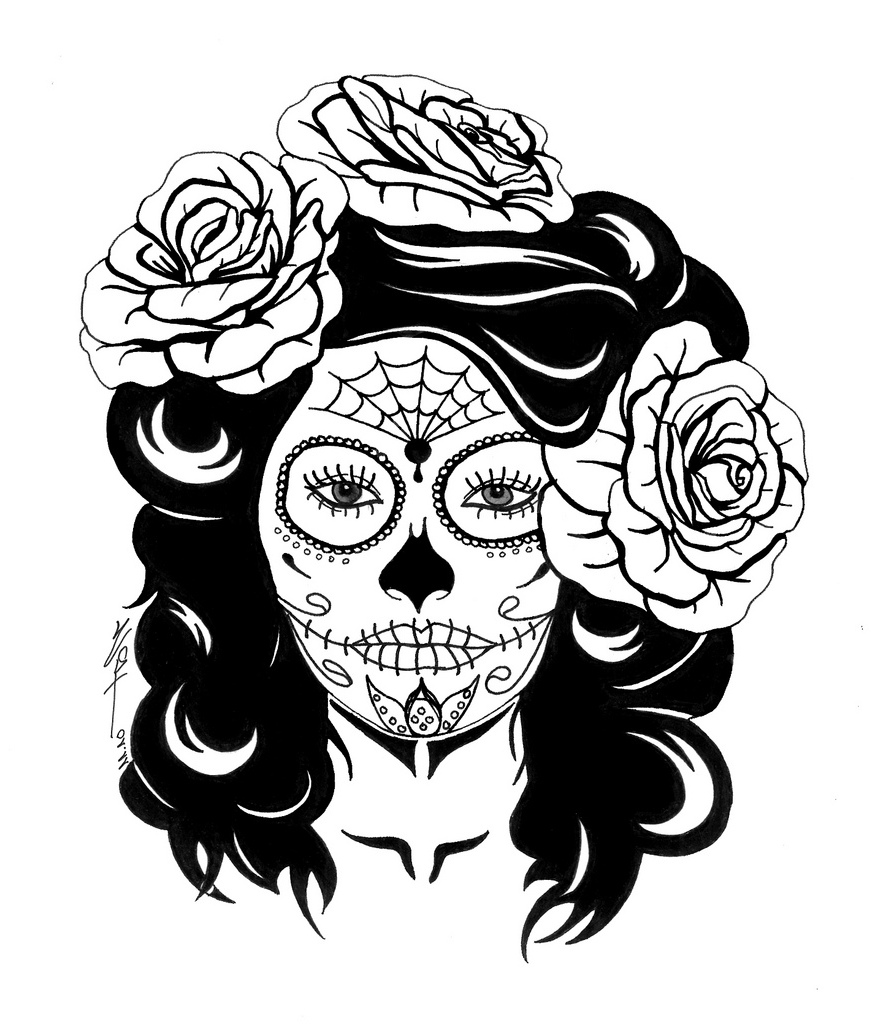 886x1024 Sugar Skull Coloring Pages