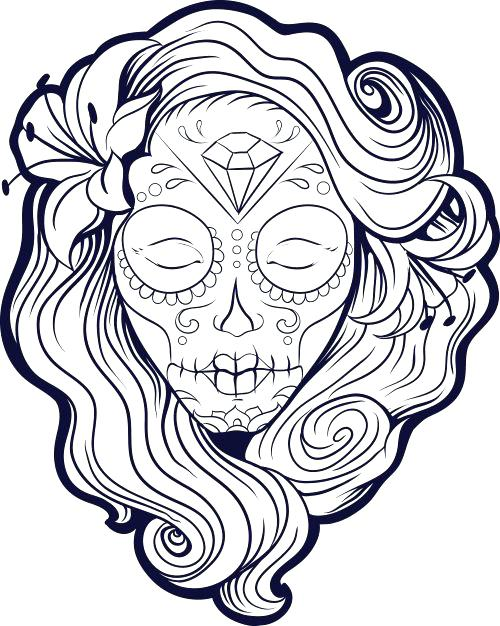 500x626 Awesome Breathtaking Girl Skull Coloring Pages Best Of Exclusive
