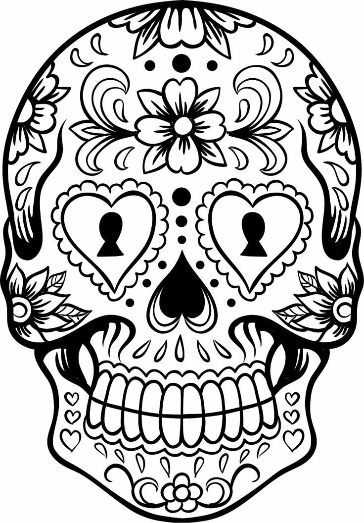 736x1056 Sugar Skull Designs Coloring Pages Sugar Skulls Coloring Pages