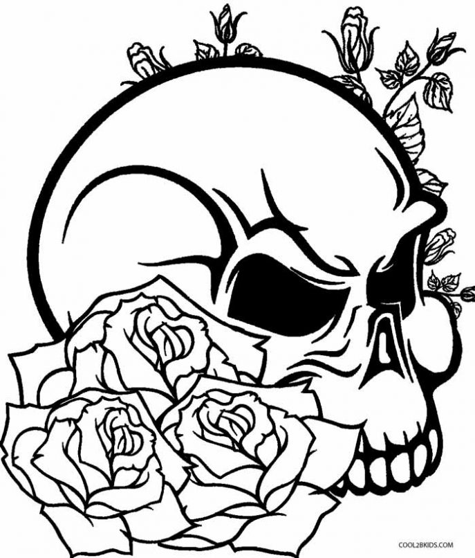 687x806 Coloring Pages Skull Coloring Pages 2 Skull Coloring Pages 2