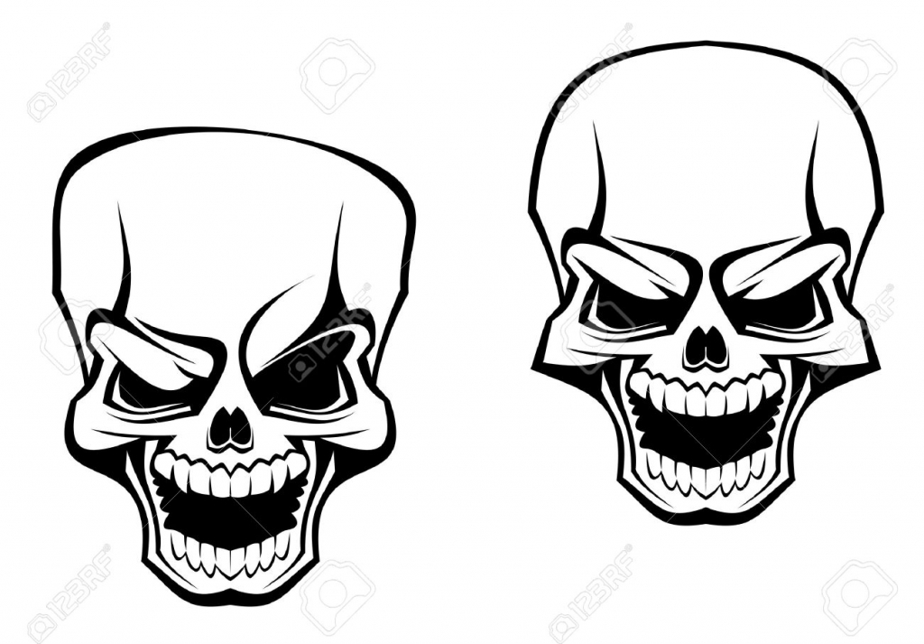 1024x713 Evil Skull Drawings Evil Skull Drawing Drawing Factory