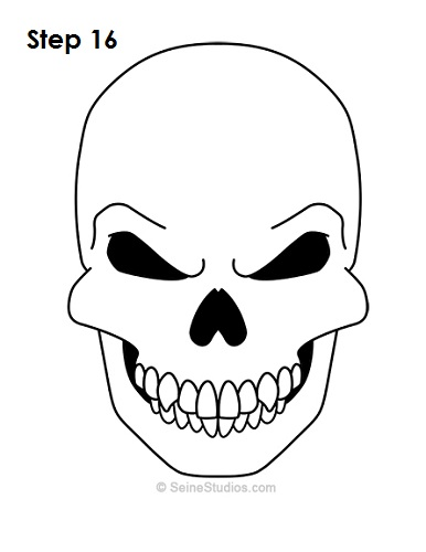 386x500 How To Draw A Skull