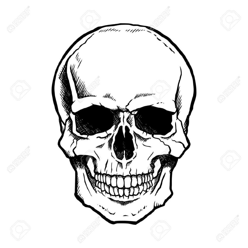1024x1024 Simple Skull Drawing Simple Skull Drawing Clipart Best