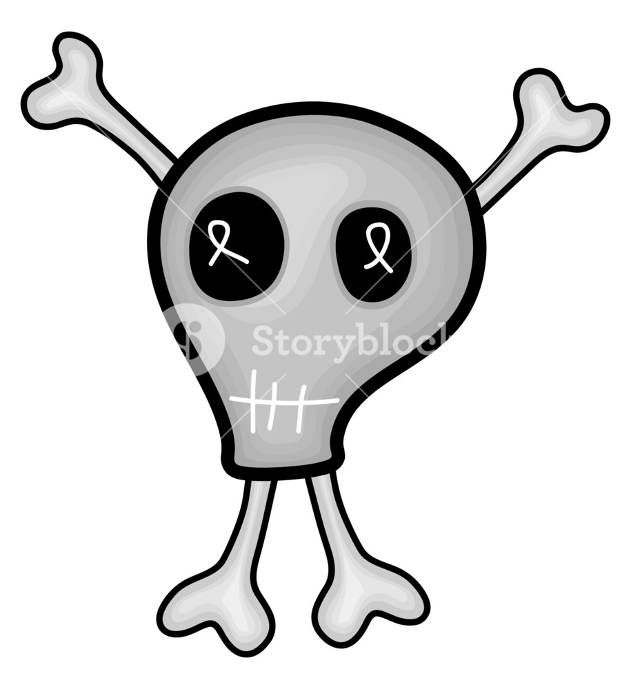 915x1000 Spooky Skull Drawing Art Royalty Free Stock Image