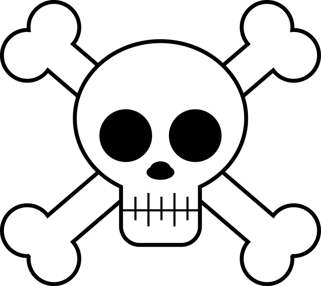 1024x911 Cartoon Skull Drawing
