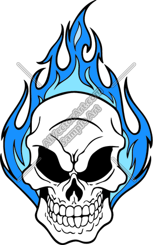 312x500 Blue Flaming Skull Graphic Clipart And Vectorart Misc Graphics