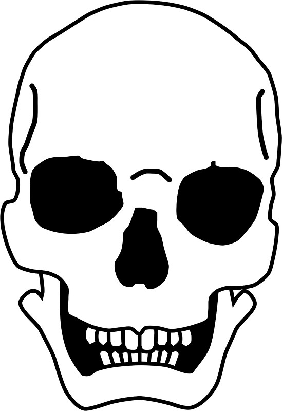 549x800 Cartoon Skull Stickers By Lucid Reality Redbubble