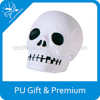 350x350 Hot Sale Pu Stress Skull Head Decorative Skull Head Mini Skull