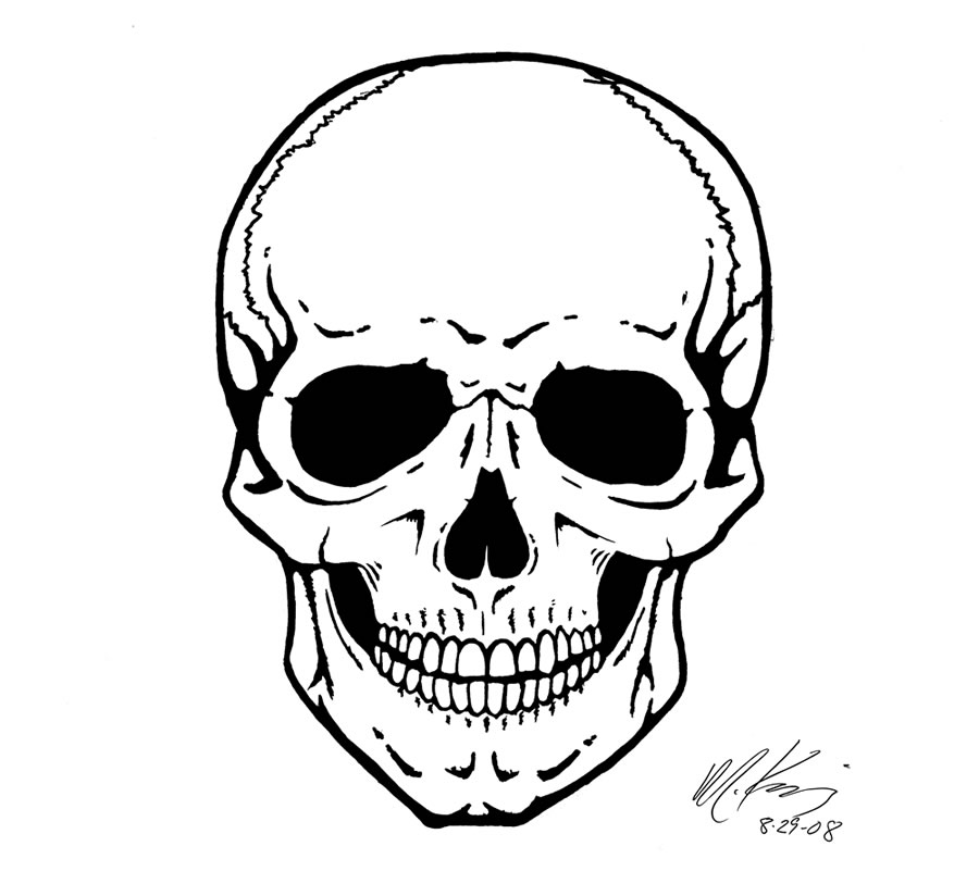 900x824 Skull Drawing Images