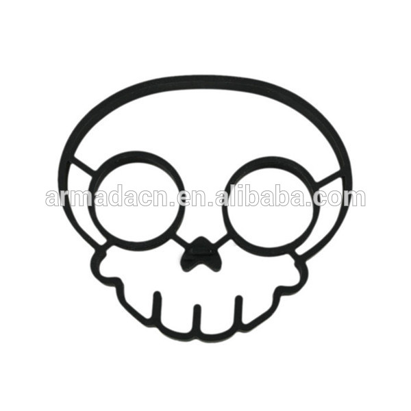 600x600 Skull Heads Shaped Egg Rings And Silicone Fried Egg Mold