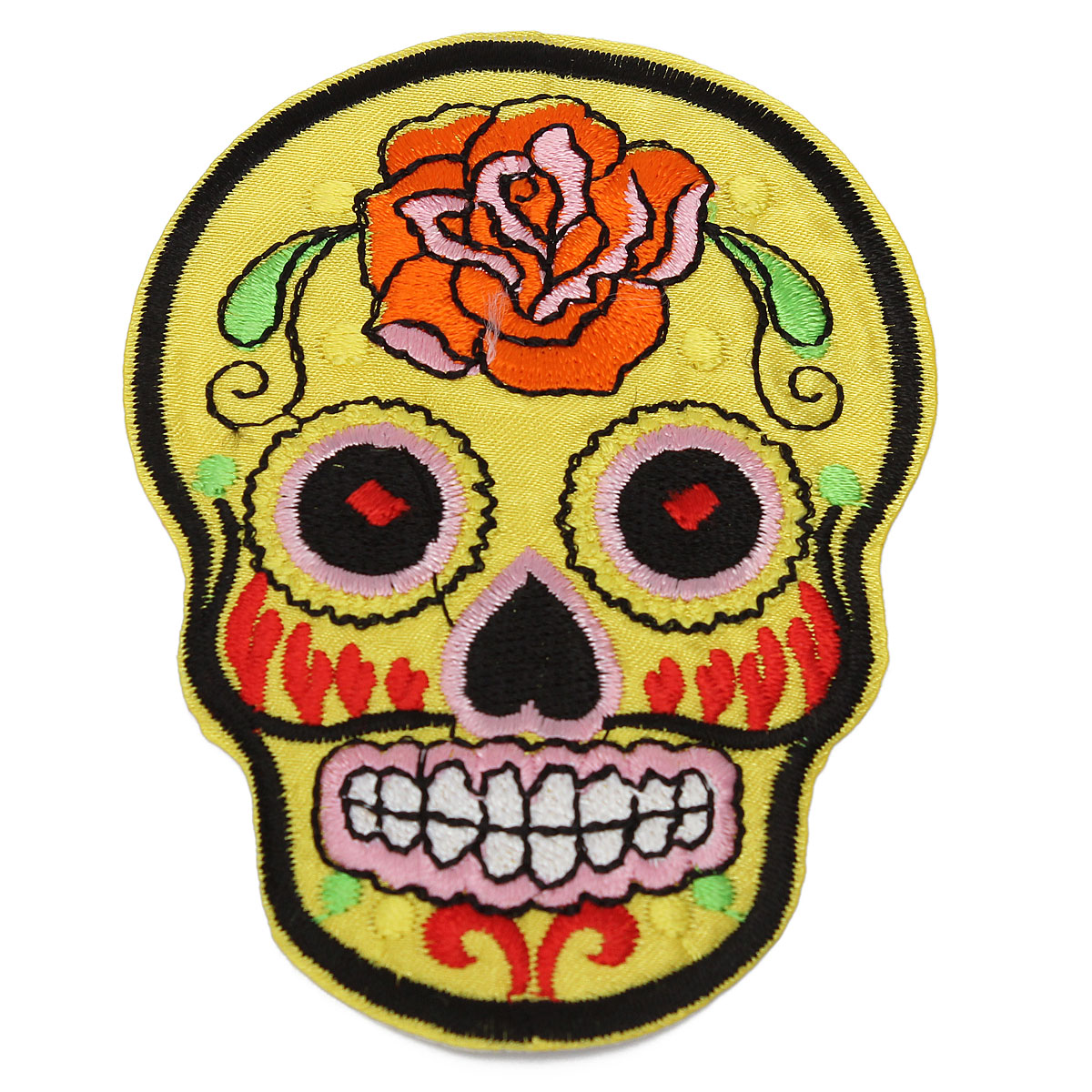 1200x1200 5 Colors Skull Heads Embroidered Patch Badge Iron On Patch Goth