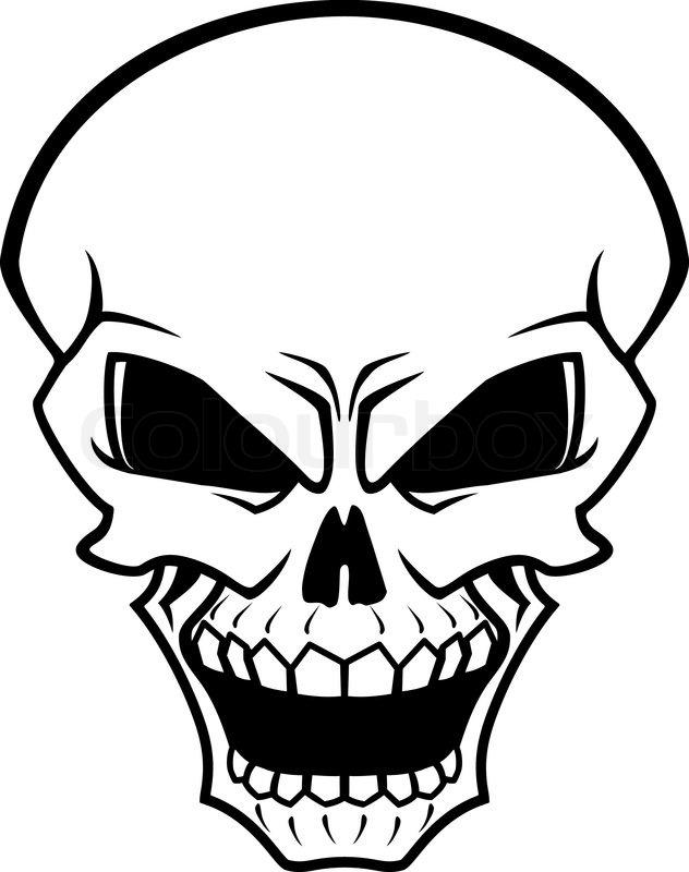 632x800 Danger Skull As A Warning Or Evil Concept Stock Vector Colourbox