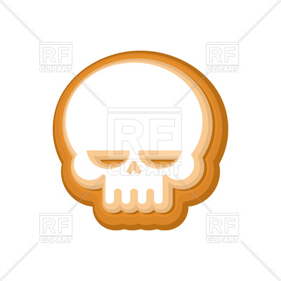 400x400 Halloween Cookie Skull Royalty Free Vector Clip Art Image