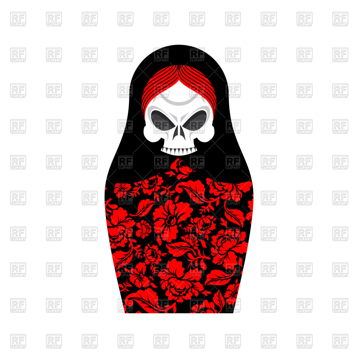 1200x1200 Matrioshka With Skull