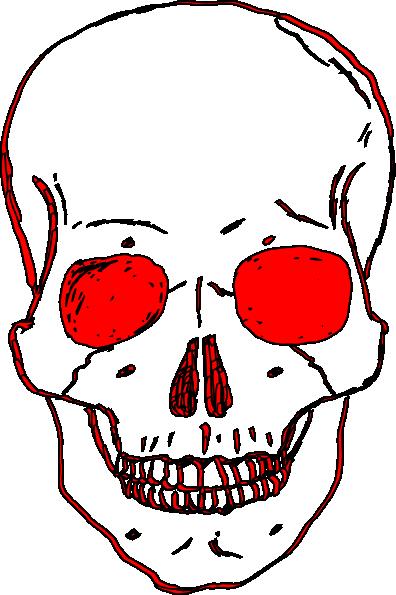 396x595 Red Skull Clip Art
