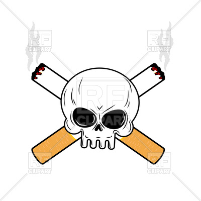 400x400 Skull And Crossbones Cigarettes Royalty Free Vector Clip Art Image
