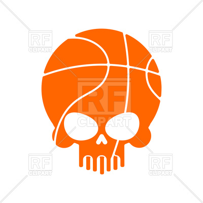 400x400 Skull Basketball Royalty Free Vector Clip Art Image