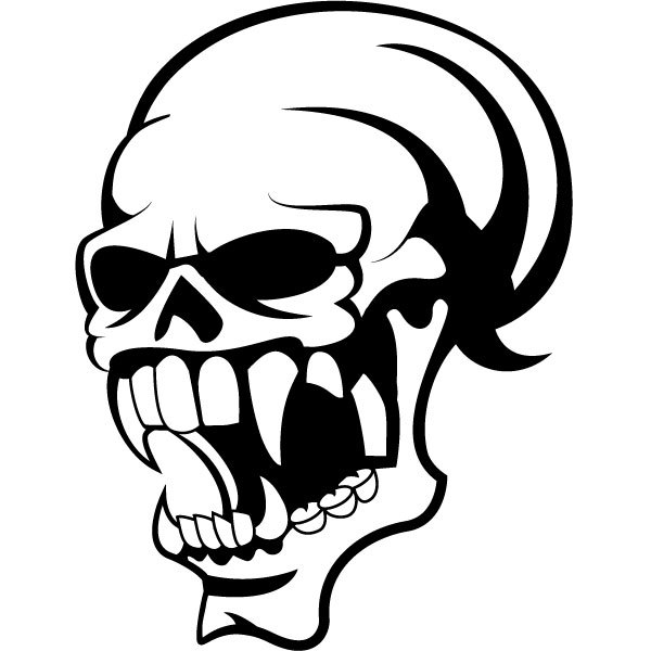 600x600 Skull Clip Art Illustration Vector Vector Free Download 2