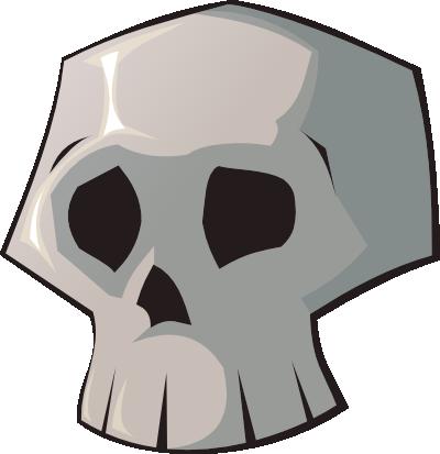 400x413 Skull Clip Art