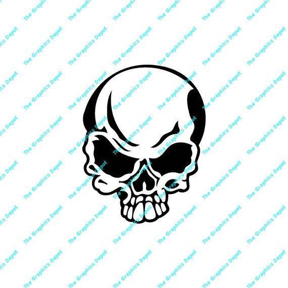 Skull Silhouette Cliparts