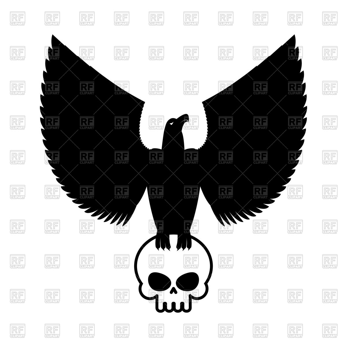 1200x1200 Eagle And Skull