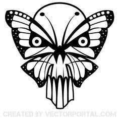 236x236 Scary Skull And Wings Vector. Skull Vectors Scary