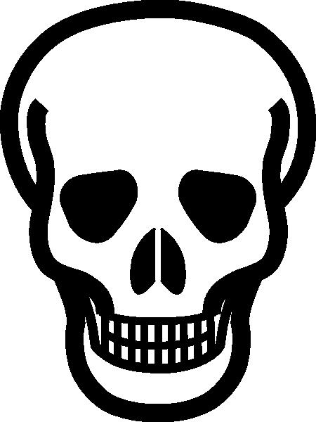 450x600 Danger Clipart Simple Skull