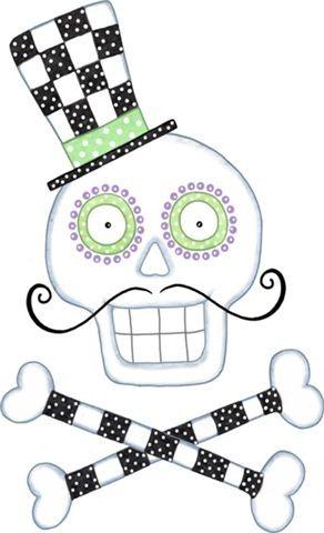 292x480 Halloween, Skull And Cross Bones Clip Art Halloween