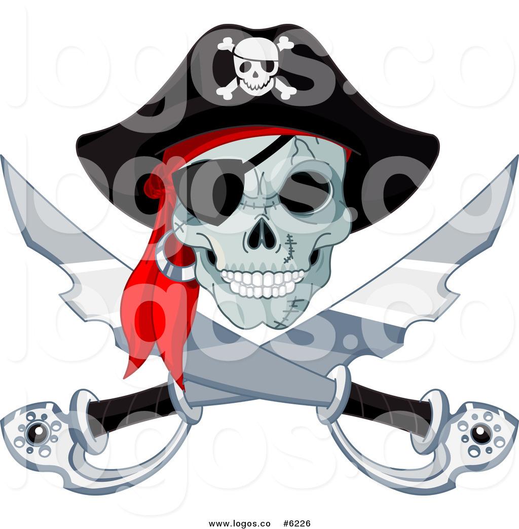 1024x1044 Royalty Free Clip Art Vector Logo Of A Jolly Roger Pirate Skull