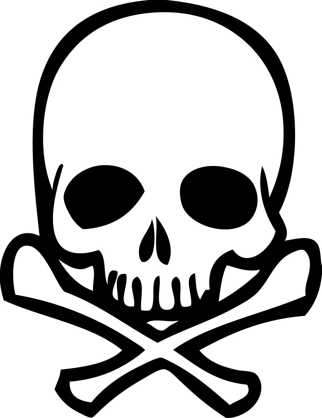 1050x1362 Skulls Clipart Coloring Page