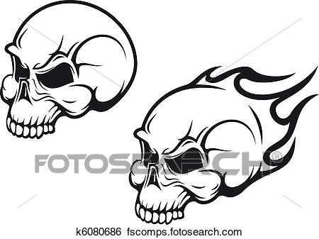 450x337 Clip Art Of Skulls Tattoo K6080686