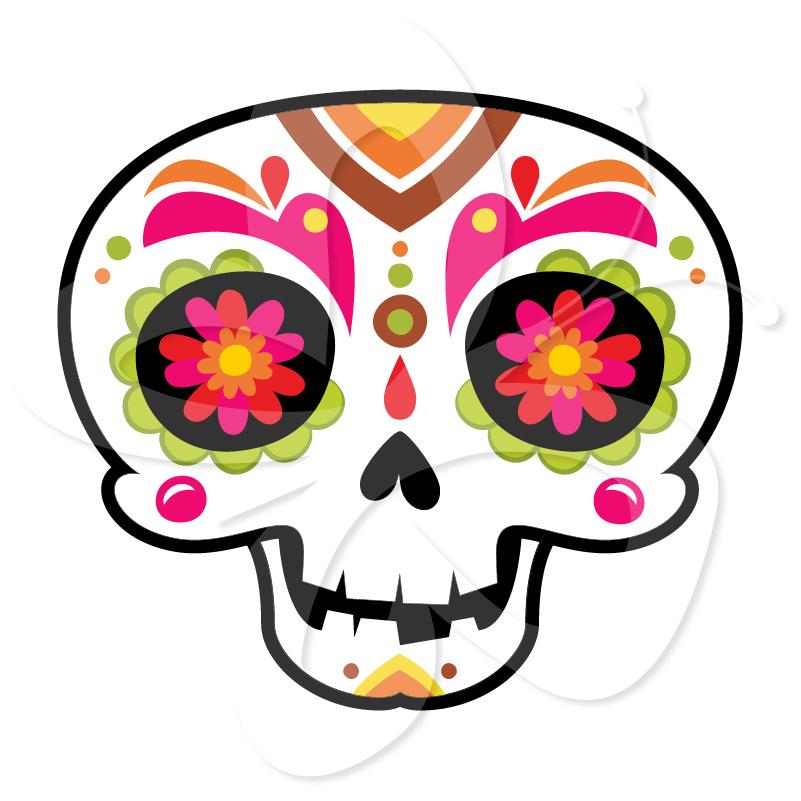 801x801 Sugar Skull Clipart Transparent